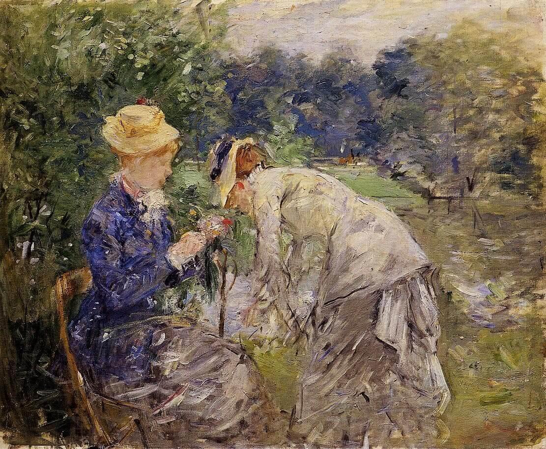 """""""En el Bois de Boulogne"""" de Berthe Morisot"""