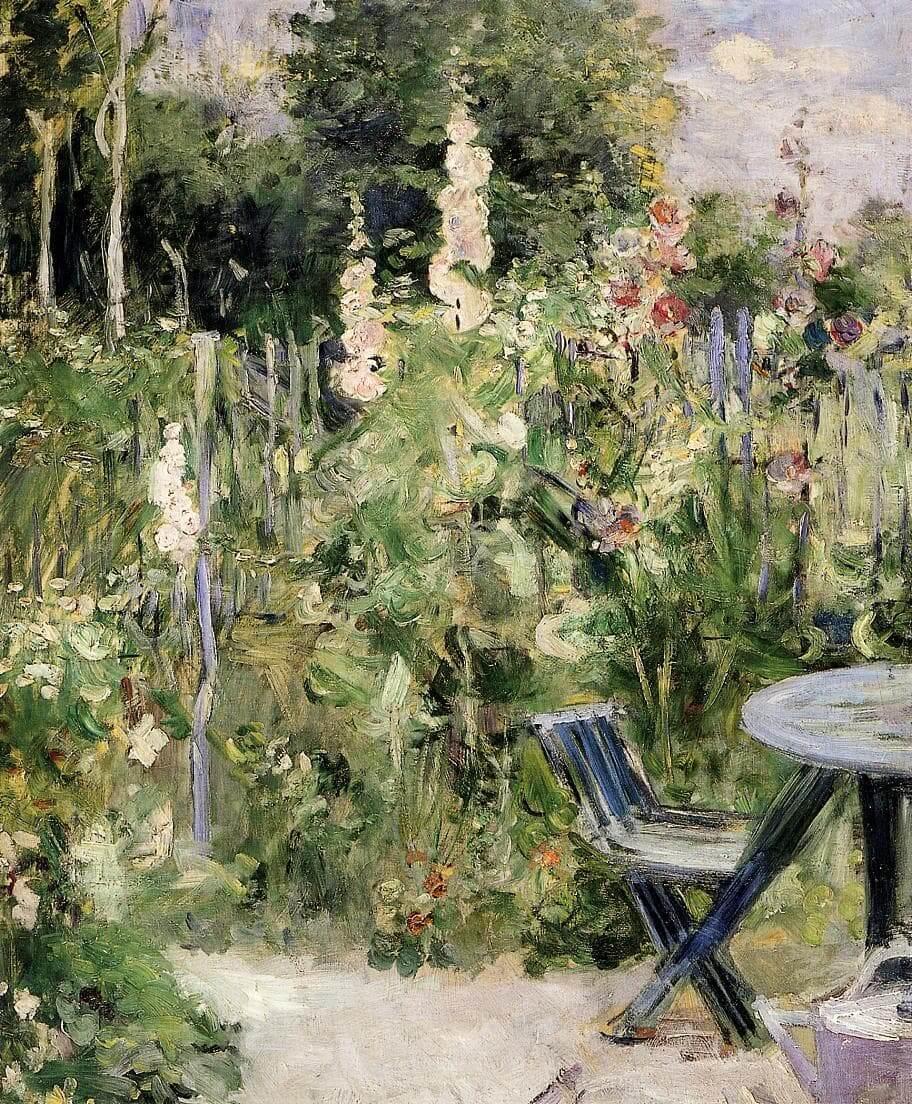 """""""Malvarrosas"""" de Berthe Morisot"""